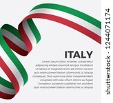 italy flag  vector illustration ... | Shutterstock .eps vector #1244071174