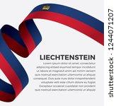 liechtenstein flag  vector... | Shutterstock .eps vector #1244071207