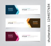 vector abstract web banner...   Shutterstock .eps vector #1244077654