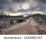dirt road of trail leading to a ... | Shutterstock . vector #1244081767