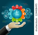 business concept. businessman... | Shutterstock .eps vector #124408495