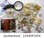 philately. coins  paper notes ...   Shutterstock . vector #1244091454