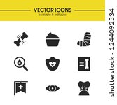healthcare icons set with... | Shutterstock .eps vector #1244092534