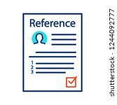 reference letter color icon.... | Shutterstock .eps vector #1244092777