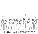 clapping hand sketch | Shutterstock .eps vector #1244095717