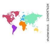 world map vector | Shutterstock .eps vector #1244097634