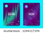 wave music poster with... | Shutterstock .eps vector #1244117194