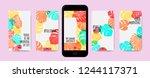 tropic template for social... | Shutterstock .eps vector #1244117371