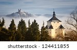 new castle and calvary in...   Shutterstock . vector #124411855