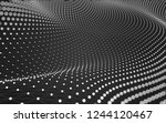 abstract polygonal space low... | Shutterstock . vector #1244120467