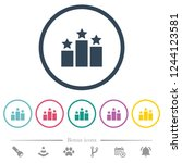 ranking flat color icons in... | Shutterstock .eps vector #1244123581
