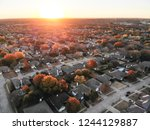 aerial view residential... | Shutterstock . vector #1244129887