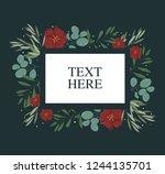 flower background frame for... | Shutterstock .eps vector #1244135701