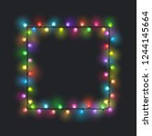 square festive colored glowing... | Shutterstock .eps vector #1244145664