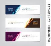 vector abstract web banner... | Shutterstock .eps vector #1244154211