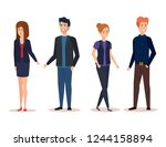 group of business people... | Shutterstock .eps vector #1244158894