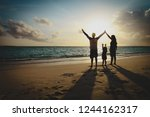 happy family with kids play at... | Shutterstock . vector #1244162317