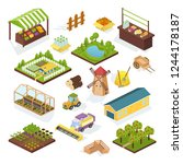 set of objects agriculture ... | Shutterstock .eps vector #1244178187