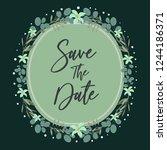 wedding invitation template... | Shutterstock .eps vector #1244186371