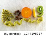 healthy holidays food and diet. ... | Shutterstock . vector #1244195317