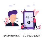 personal assistant and voice... | Shutterstock .eps vector #1244201224