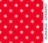 christmas snowflakes seamless... | Shutterstock .eps vector #1244203927