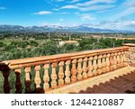 valley with mountain range and...   Shutterstock . vector #1244210887