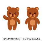 simple and cute teddy bear... | Shutterstock .eps vector #1244218651