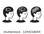 child head profile with mental... | Shutterstock .eps vector #1244218654