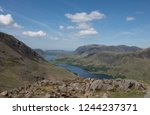 panoramic view from the summit... | Shutterstock . vector #1244237371