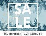 trendy chic social media banner ...   Shutterstock .eps vector #1244258764