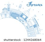 outline florence italy city...   Shutterstock .eps vector #1244268064