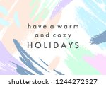 trendy holidays poster with... | Shutterstock .eps vector #1244272327