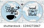 vector banner with handwritten...   Shutterstock .eps vector #1244272867