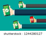 mobile payment illustration | Shutterstock .eps vector #1244280127
