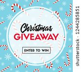 christmas giveaway. enter to... | Shutterstock .eps vector #1244285851