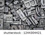background of random vintage... | Shutterstock . vector #1244304421