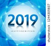 beautiful happy new year 2019... | Shutterstock .eps vector #1244305837