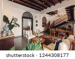contemporary hotel hall... | Shutterstock . vector #1244308177