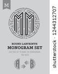 m letter maze. set for the...   Shutterstock .eps vector #1244312707