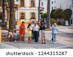 san pedro  spain   may 2018 ... | Shutterstock . vector #1244315287