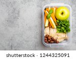 healthy food lunchbox for... | Shutterstock . vector #1244325091