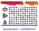 vector icons pack of 120 filled ... | Shutterstock .eps vector #1244329447