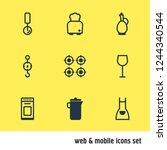 vector illustration of 9...   Shutterstock .eps vector #1244340544