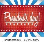presidents day background ...   Shutterstock .eps vector #124435897