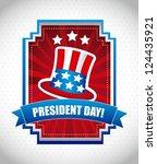 presidents day background ... | Shutterstock .eps vector #124435921