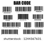 realistic bar code icon. a... | Shutterstock .eps vector #1244367631