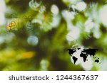 worldwide delivery concept ... | Shutterstock . vector #1244367637