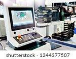 control panel monitoring metal...   Shutterstock . vector #1244377507