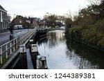 river located in nieuwegein...   Shutterstock . vector #1244389381